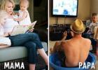 Na týchto fotografiách sa zabavíte: MAMA vs. TATO