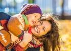 jeseň, hry, deti, rodina