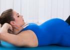 cvičenie v tehotenstve na brucho, sed-ľah