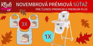 Prémiová súťaž: VYHRAJTE detskú stoličku alebo kvalitné podbradníčky