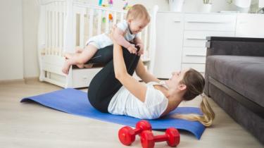 cvičenie počas dojčenia