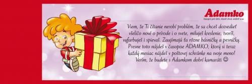 Darovacia kartčka - Adamko