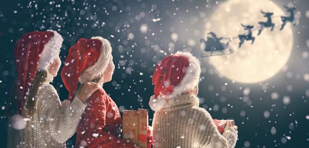 Vianoce, očamy detí, deti, Ježiško, nebo, darčeky