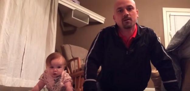 Toto VIDEO vás dostane: Dcérka dáva tatinovi poriadne do tela!