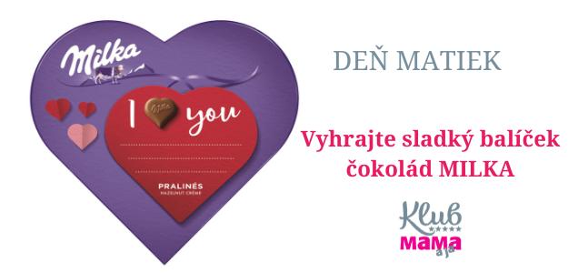 deň matiek súťaž o čokolády MILKA