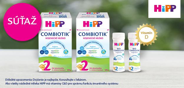 VYHRAJTE  3 balíčky dojčenského mlieka HiPP 2 BIO Combiotik® pre deti vo veku 6-12 mesiacov