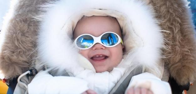Zima na horách s dojčaťom