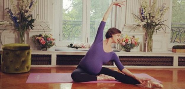 Fotogaléria: Balerína v deviatom mesiaci stále tancuje