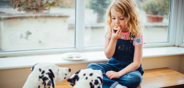 dieťa a pes, šteniatko