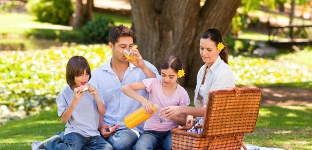 jeseň, piknik, rodina
