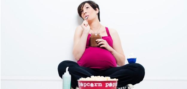 ako nepribrať v tehotenstve