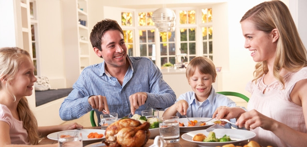 Dobré jedlo, šťastná rodina