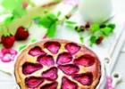 Jahodový koláč s marcipánom