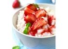Ryžový nákyp s jahodami
