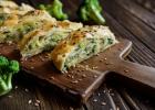 Štrúdľa z lístkového cesta s brokolicou a mozzarellou