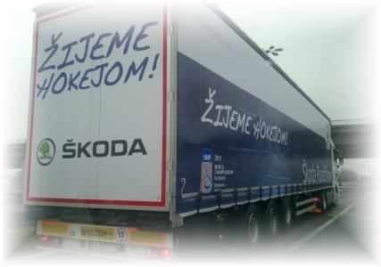 Odštartovala ŠKODA Road Show - ŽIJEME HOKEJOM