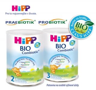 Následná mliečna dojčenská výživa HiPP BIO Combiotic®