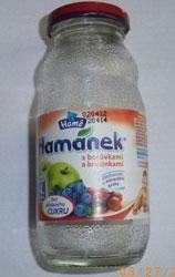 Informácia o prítomnosti úlomkov skla v dojčenskom nápoji Hamánek® s príchuťou čučoriedok a brusníc, od ukončeného 4. mesiaca