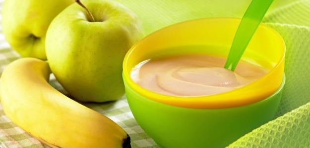 Jablkovo-banánová kaša s ryžou