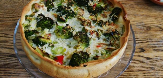 Pórovo-brokolicový koláč