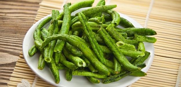 Chipsy zo zelenej fazuľky