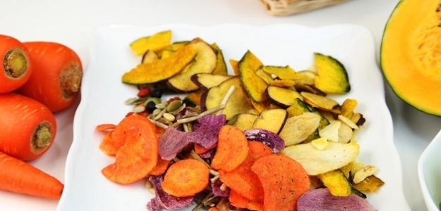 Sladké mrkvové chipsy