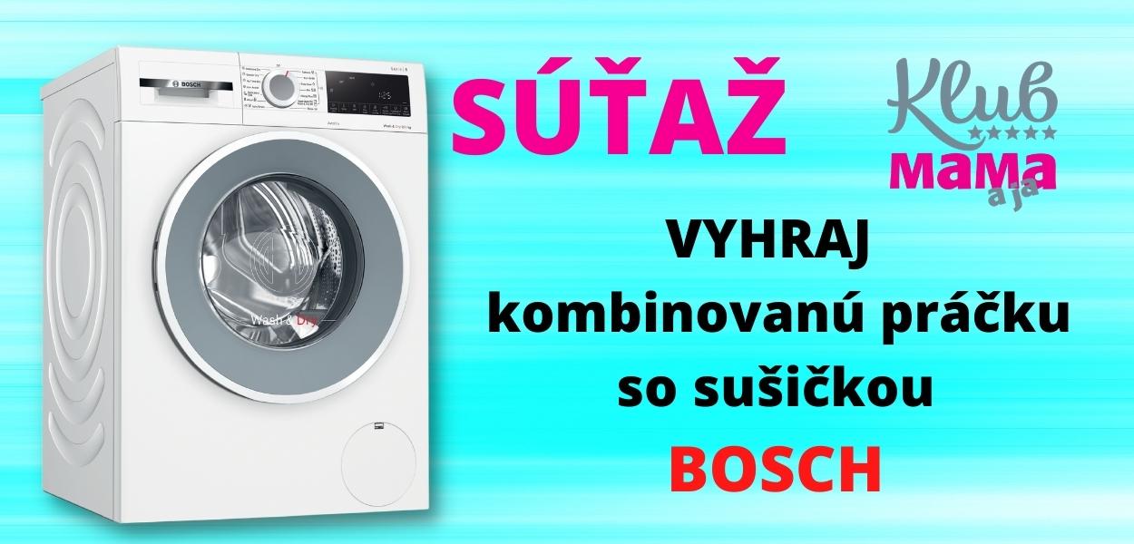 EXKLUZÍVNA súťaž: Vyhrajte kombinovanú práčku so sušičkou BOSCH