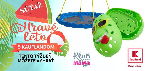 HRAVÉ LETO: Si v Klube Mama a ja? Hraj o hojdačku a vodnú bombu od Kauflandu